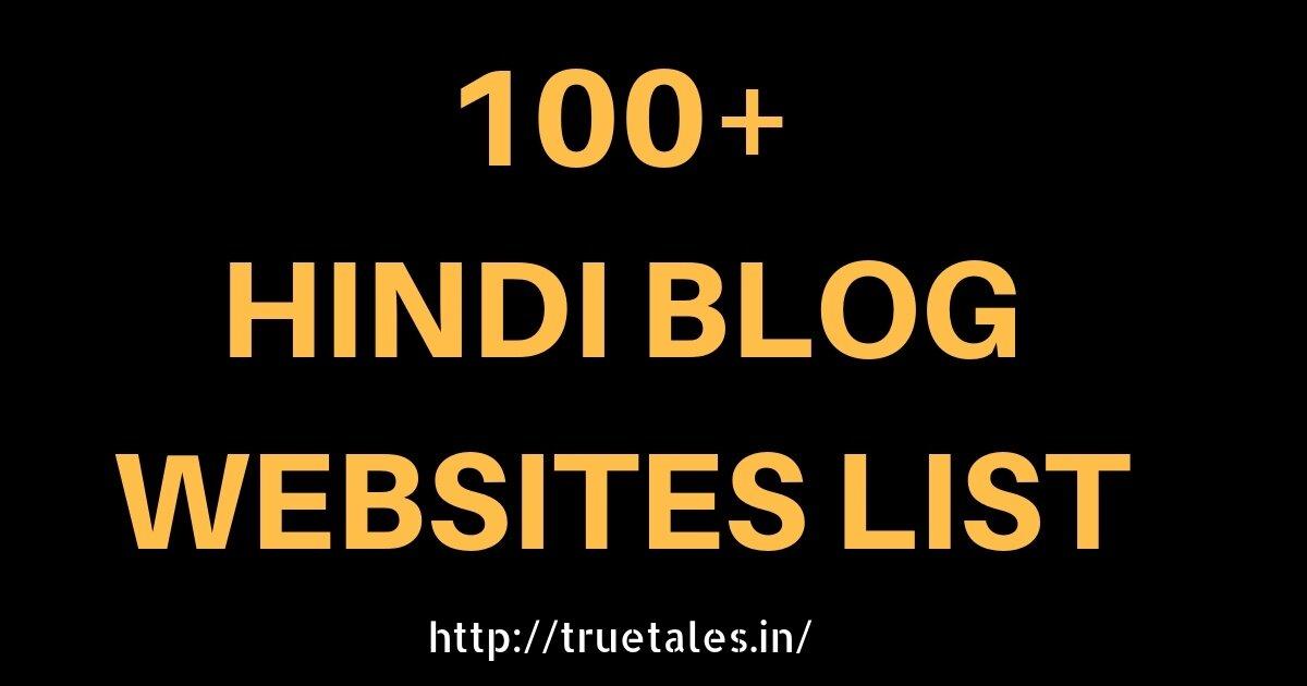 100+ Hindi Blog Sites List| Indian Blog Website